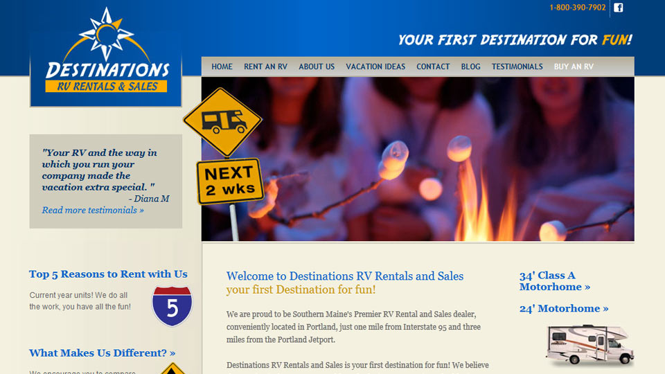 Destinations RV Rentals